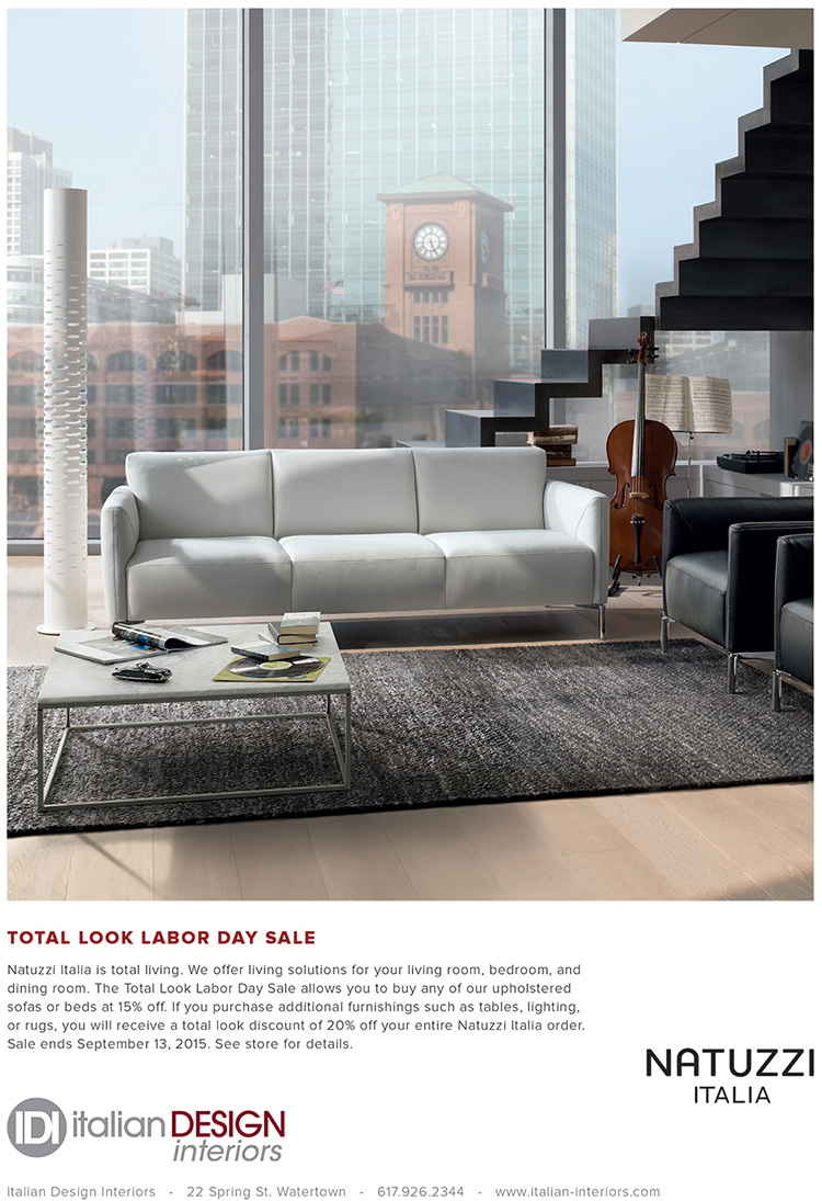 Natuzzi Italia Labor Day sale