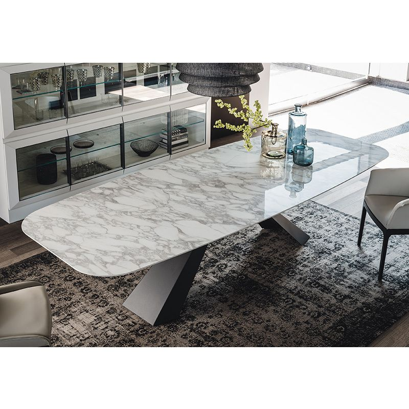 bedroom with desk eliot keramik table dining tables dining cattelan 10770