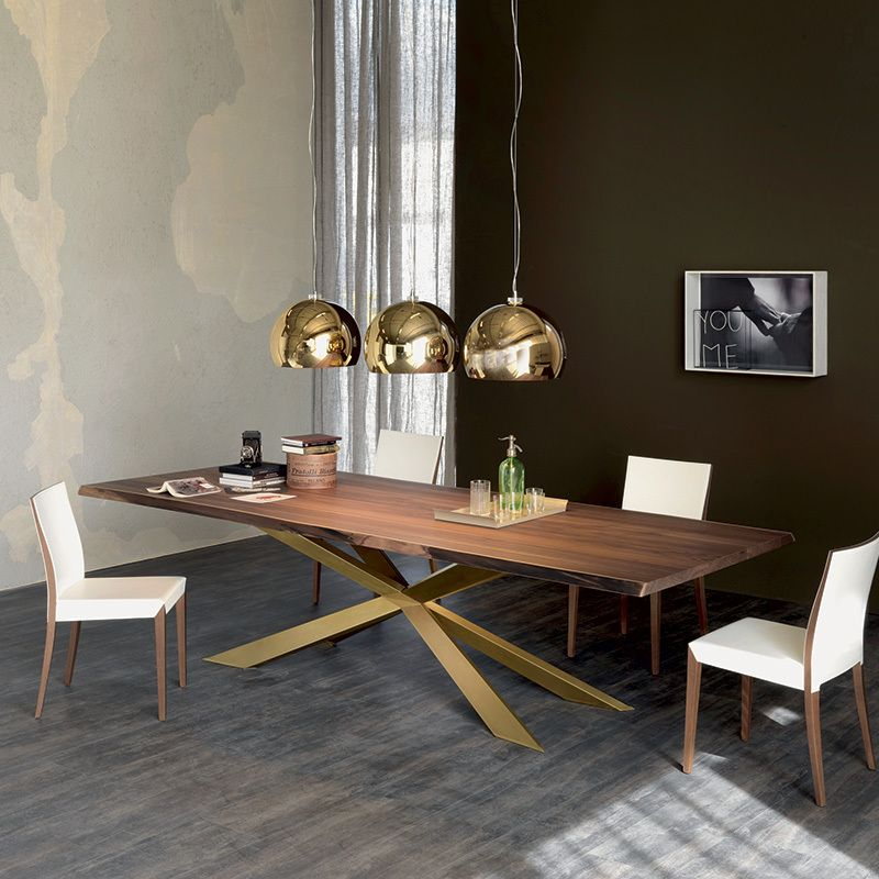 spyder wood table dining tables dining cattelan italia. Black Bedroom Furniture Sets. Home Design Ideas