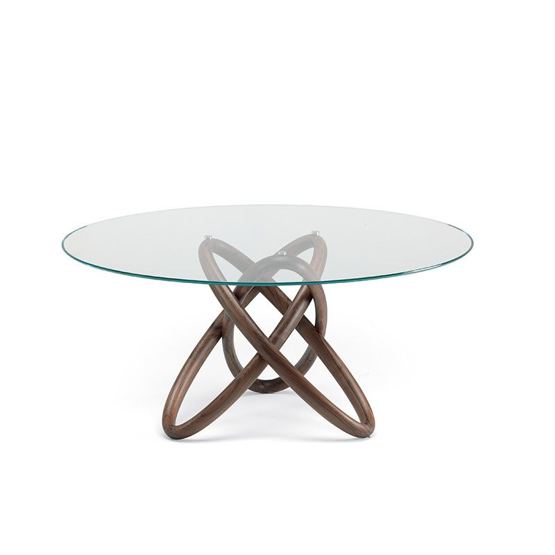 Unico Italia Modern Enigma Glass Coffee Table With Shelf: Carioca Table. Dining Tables. Dining : Cattelan Italia