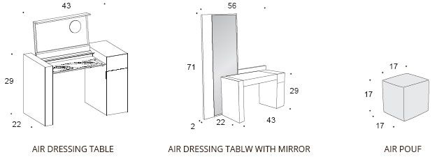 Air Dressing Table. Vanity. Bedroom : Rossetto. Modern furniture.